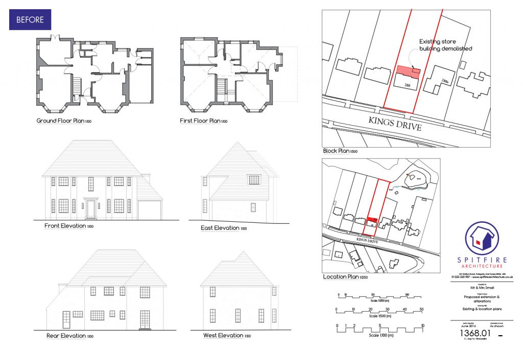 Kings Drive, Eastbourne - Existing Plan