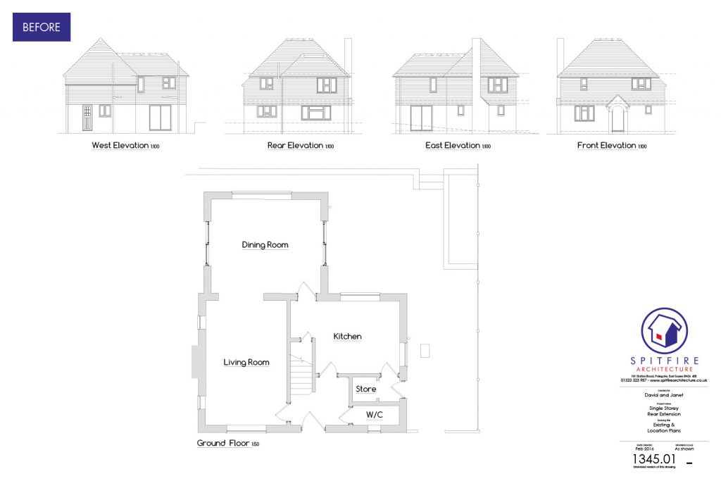 Ratton Drive - Eastbourne - Existing Plans